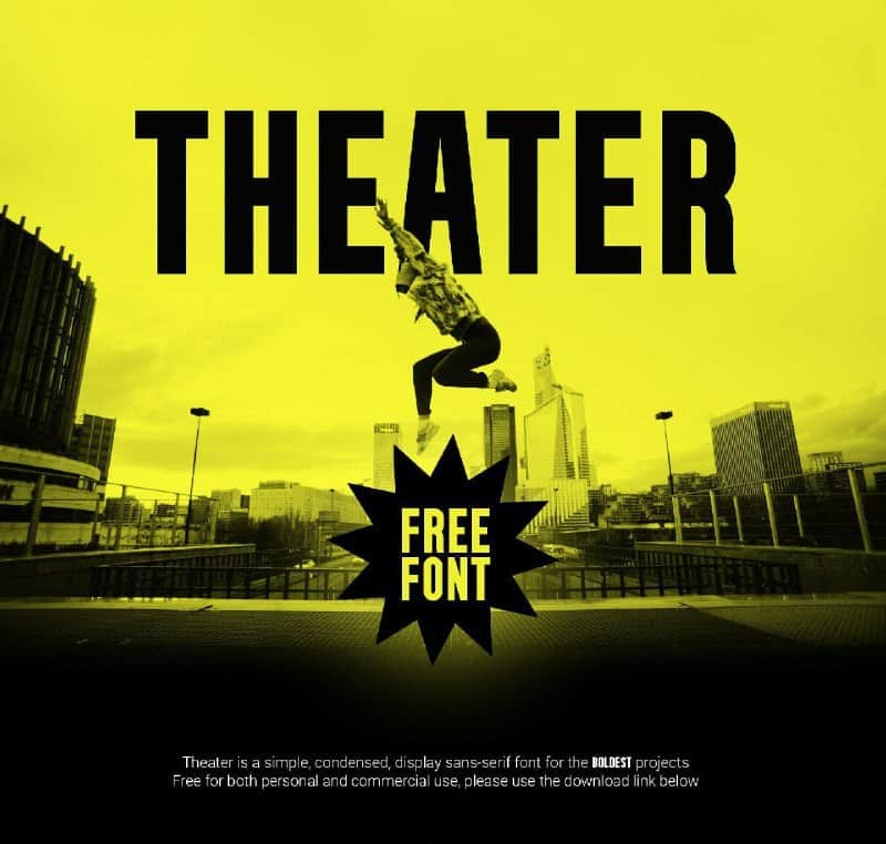 Download Theater font (typeface)