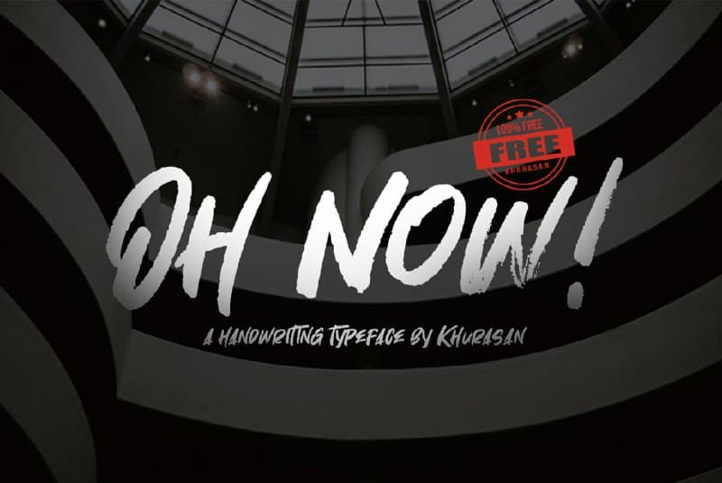 Download Oh Now! font (typeface)