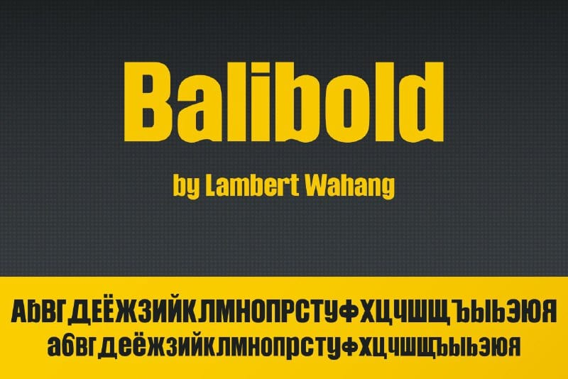 Download Balibold font (typeface)