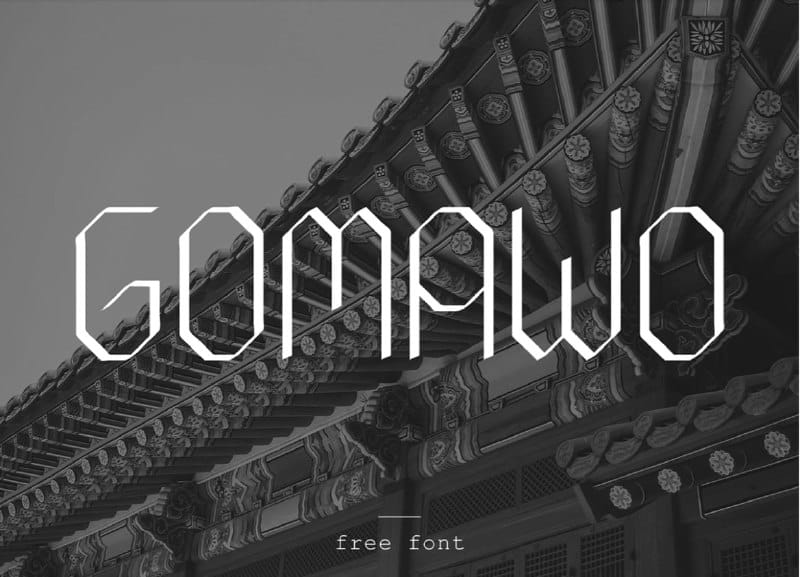 Download Gomawo font (typeface)
