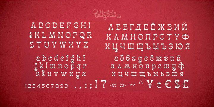 Download Migaela font (typeface)