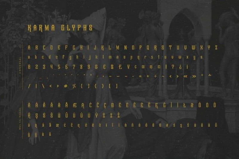 Download KarmaFreebie font (typeface)