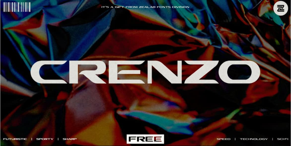 Download Crenzo font (typeface)