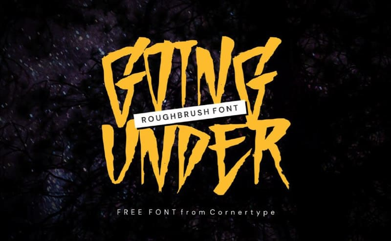 Download Going Under font (typeface)