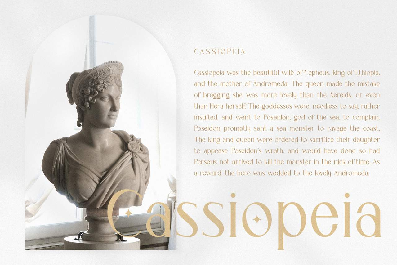 Download Cassiopeia font (typeface)