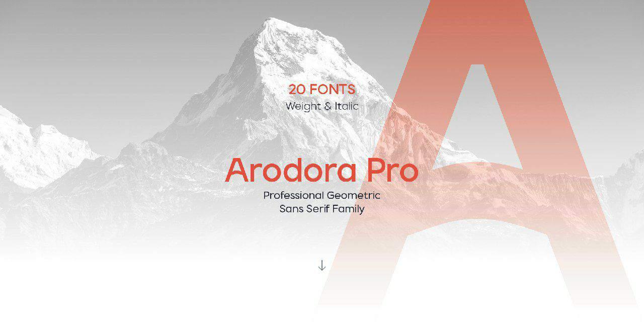Download Arodora Pro font (typeface)