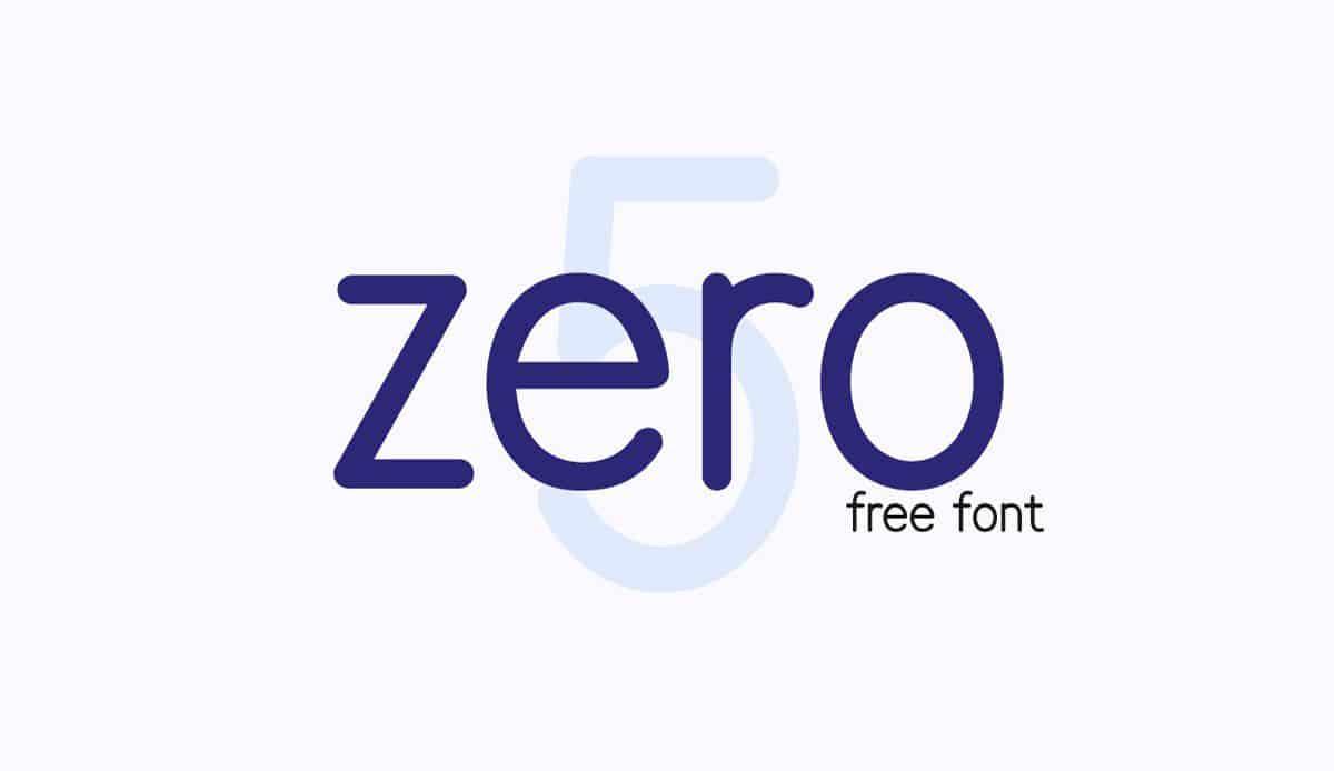 Download Zero 5 font (typeface)