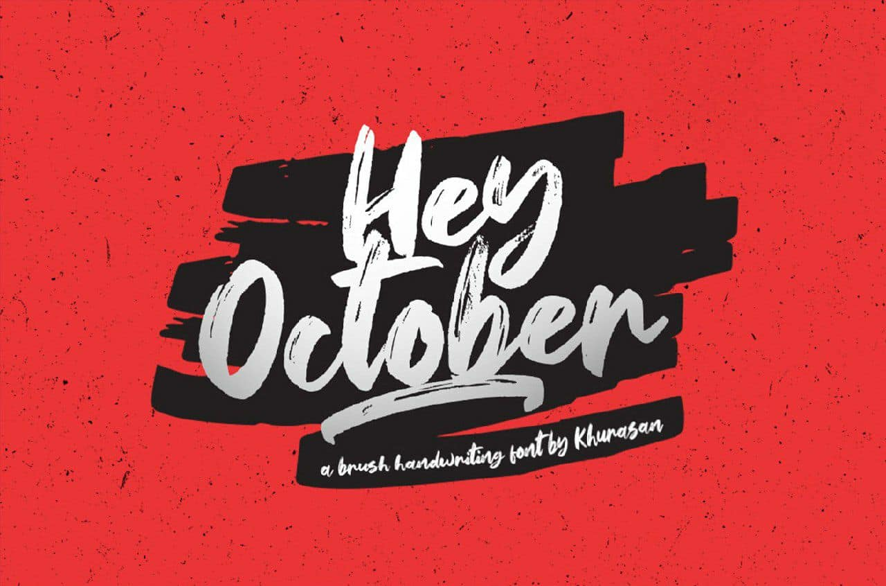 Download Hey October font (typeface)