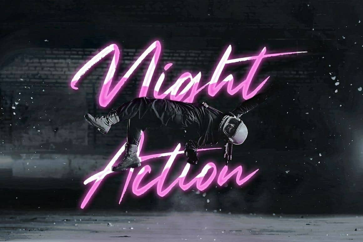 Download Night Action font (typeface)
