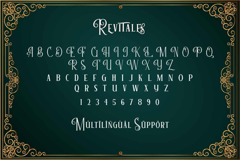 Download Revitale font (typeface)