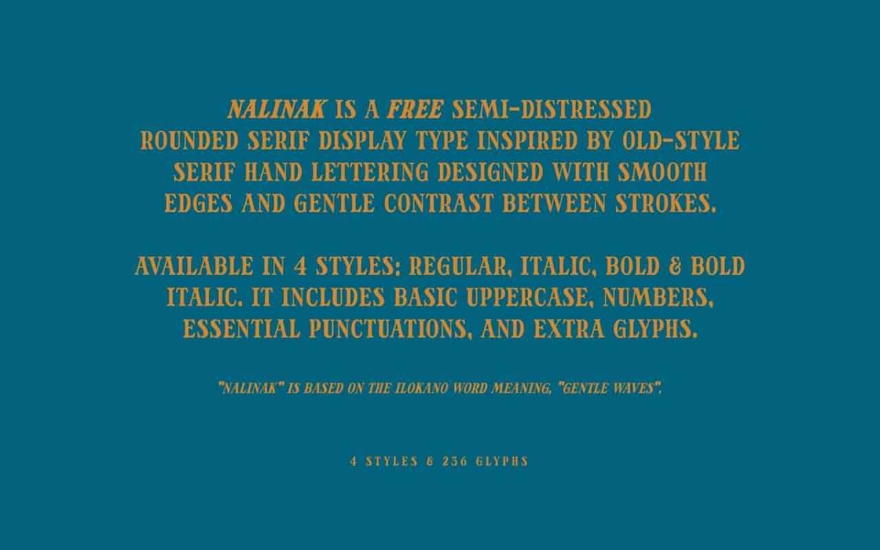 Download Nalinak font (typeface)