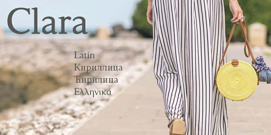 Download Clara font (typeface)