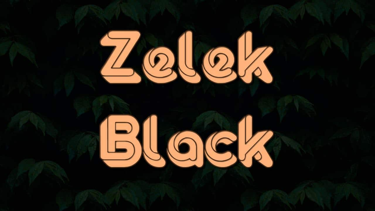 Download Zelek Black font (typeface)
