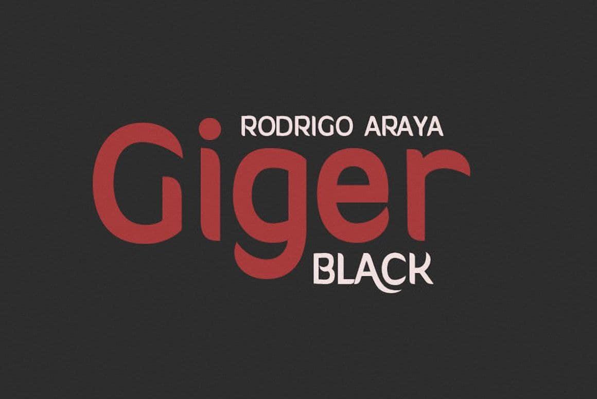 Download Giger Black font (typeface)