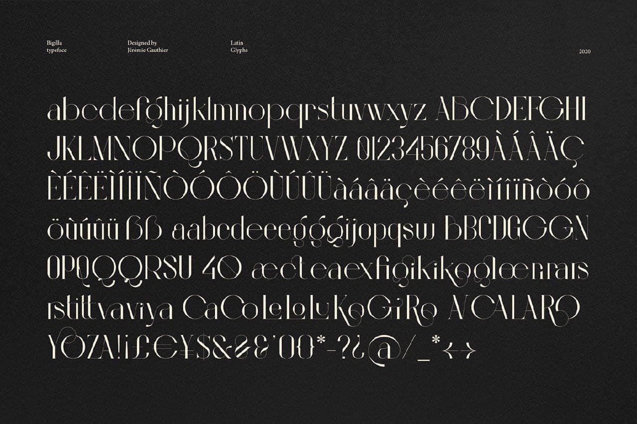 Download Bigilla font (typeface)