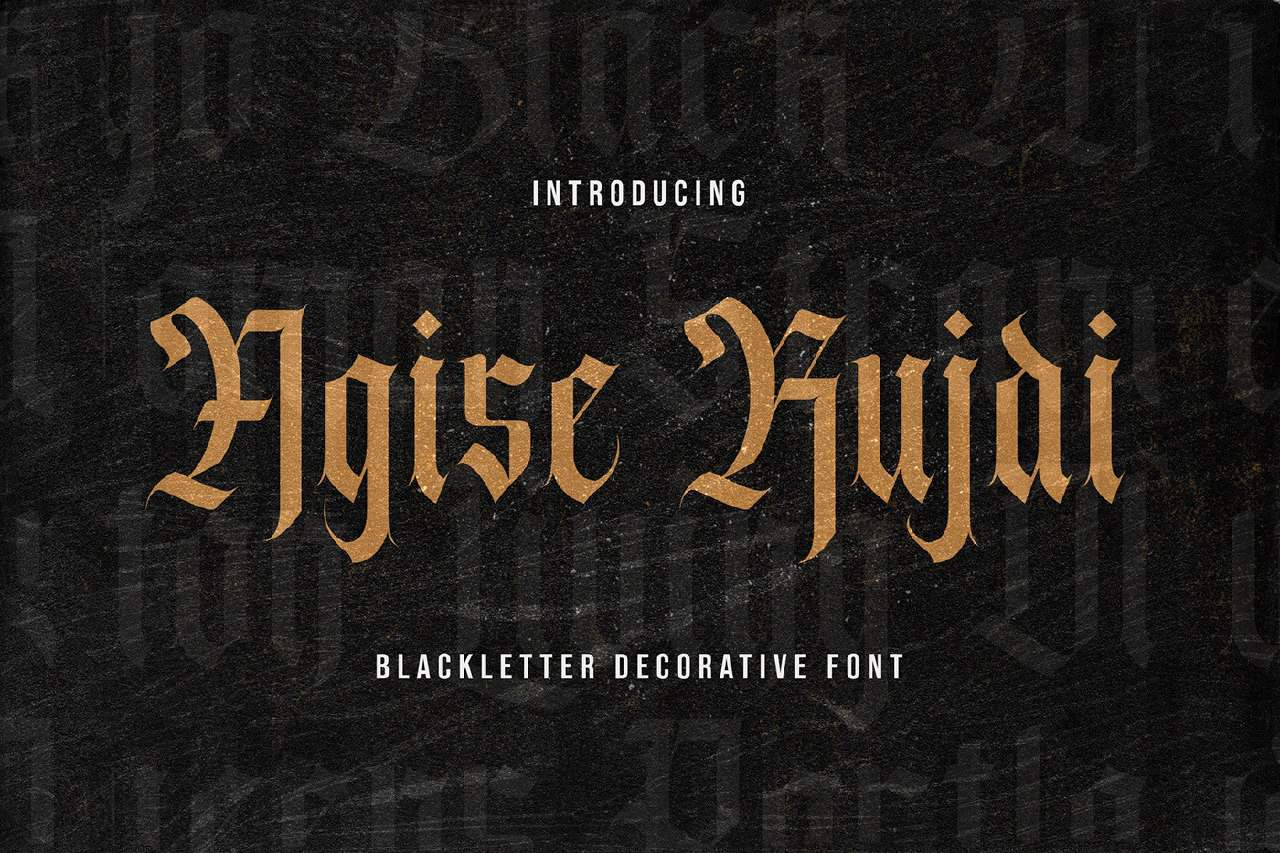 Download Agise Rujdi font (typeface)