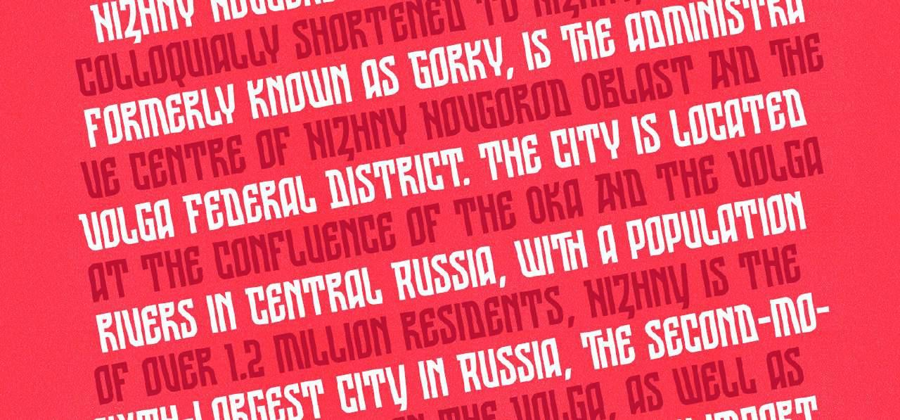 Download ST Nizhegorodsky font (typeface)