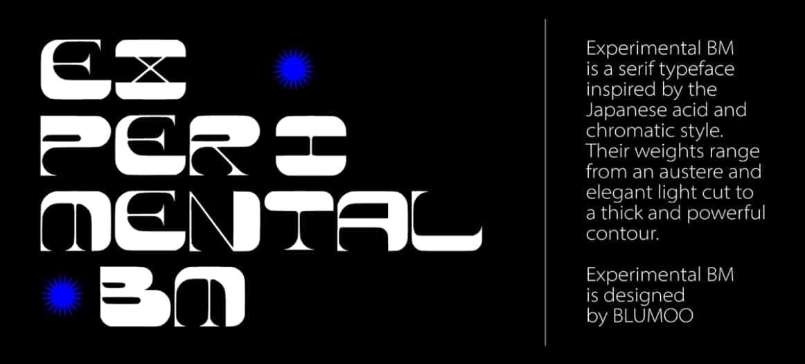 Download Experimental BM font (typeface)