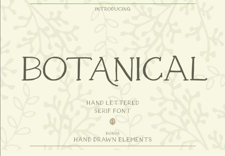 Download Botanical font (typeface)