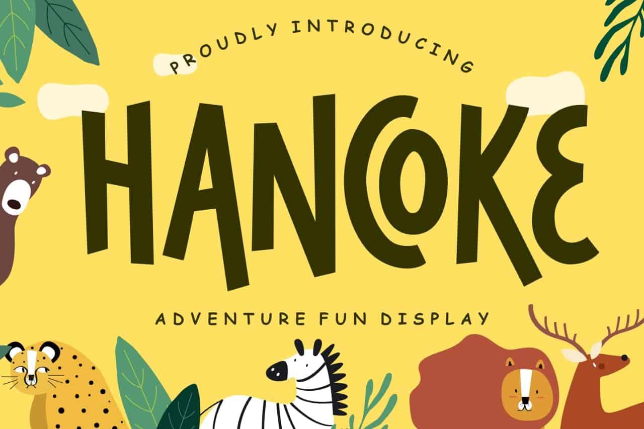 Download Hancoke font (typeface)