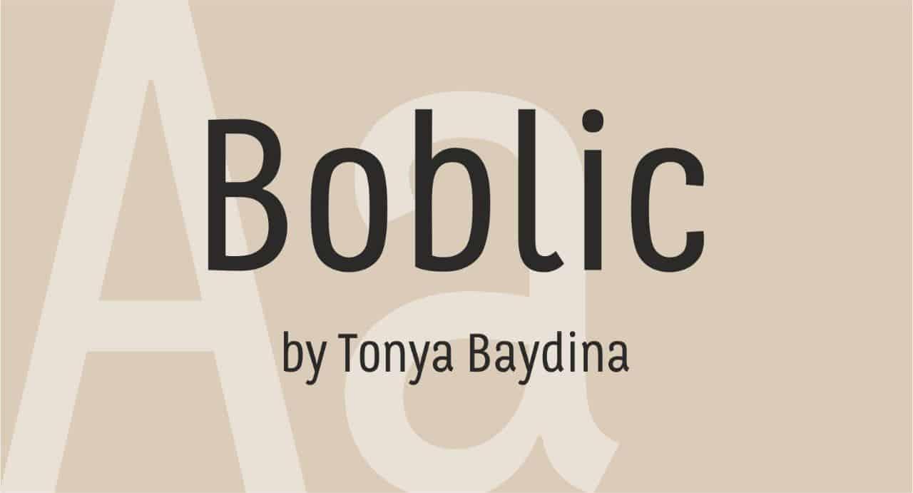 Download Boblic font (typeface)