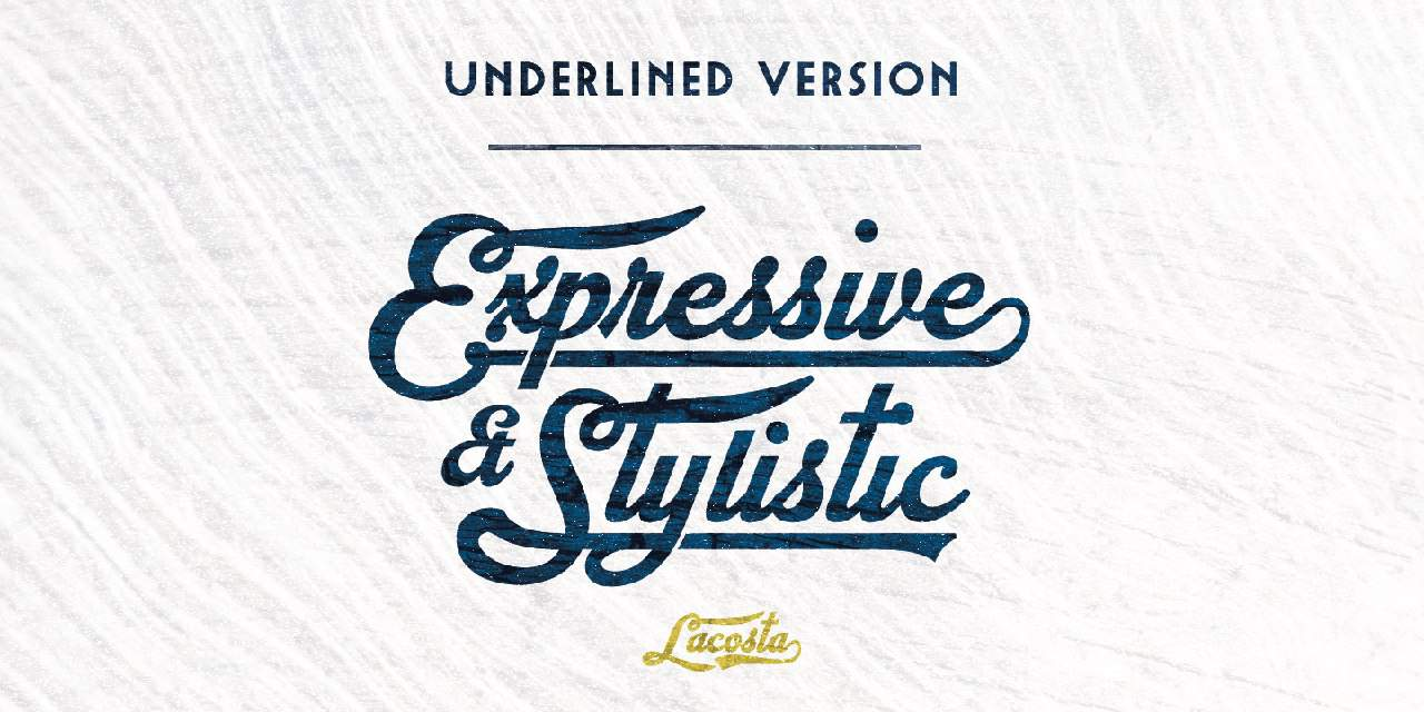 Download Lacosta font (typeface)