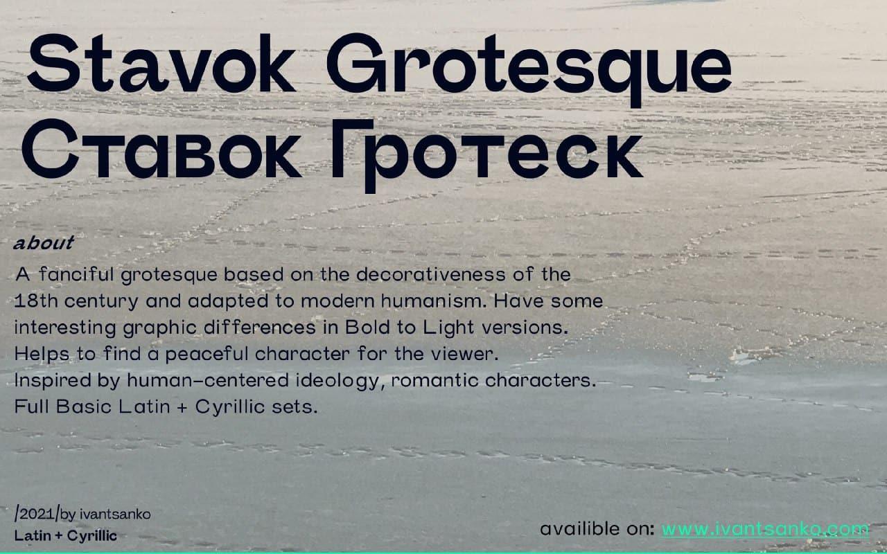 Download Stavok font (typeface)