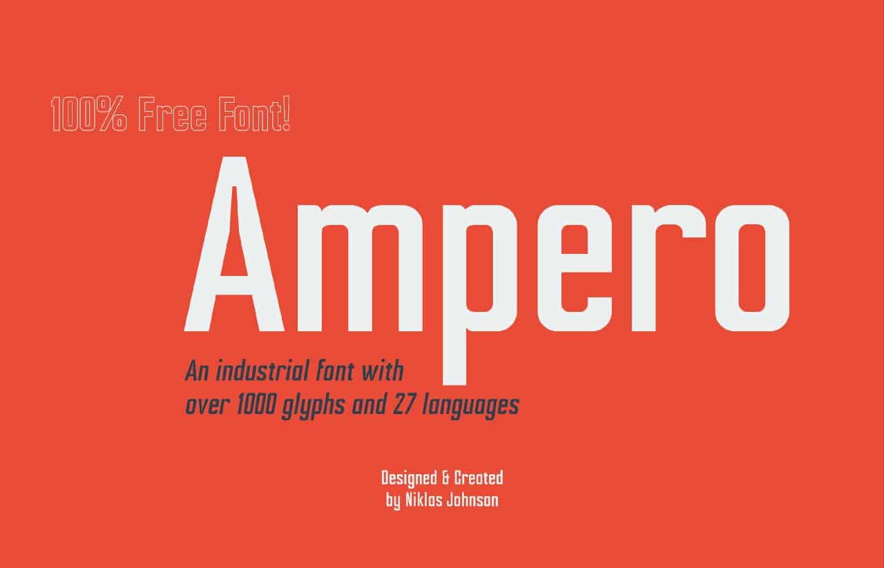 Download Ampero font (typeface)