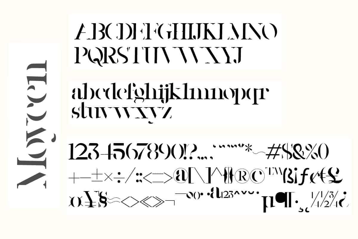 Download Moycen font (typeface)