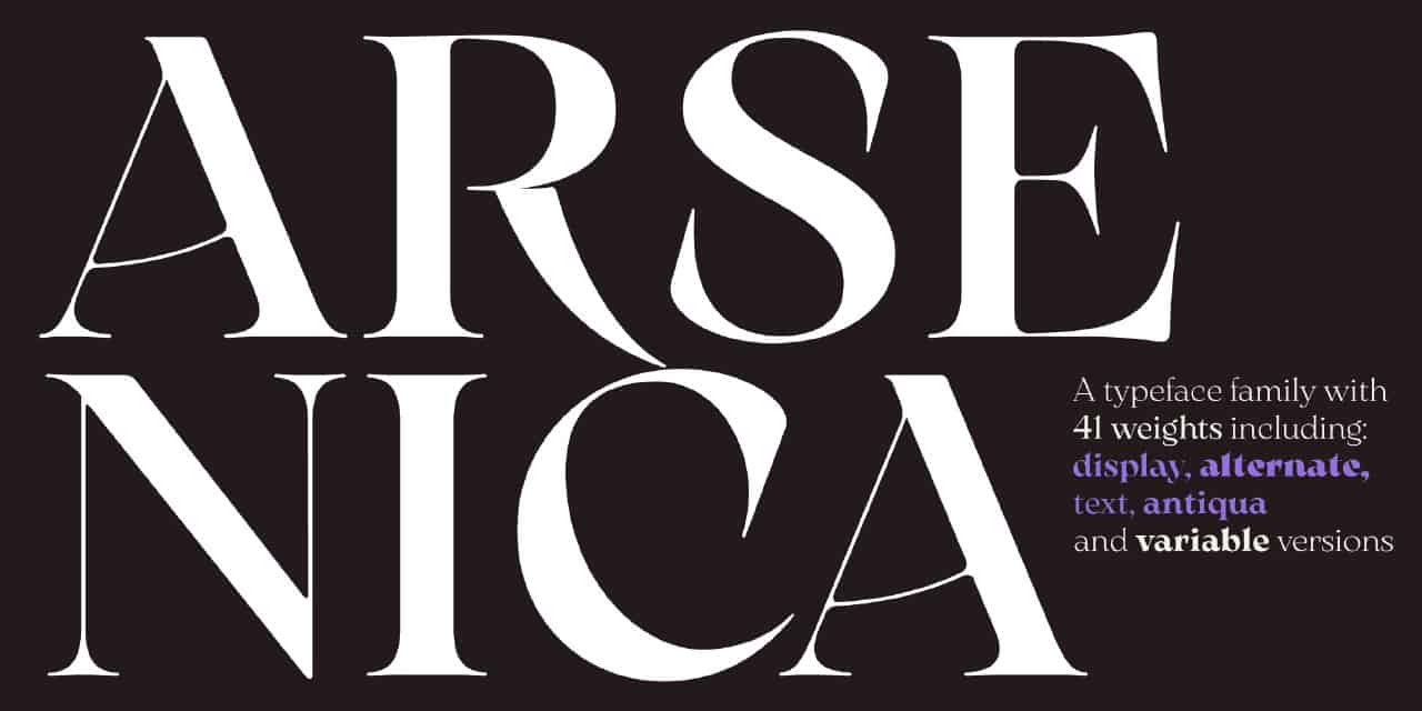 Download Arsenica font (typeface)
