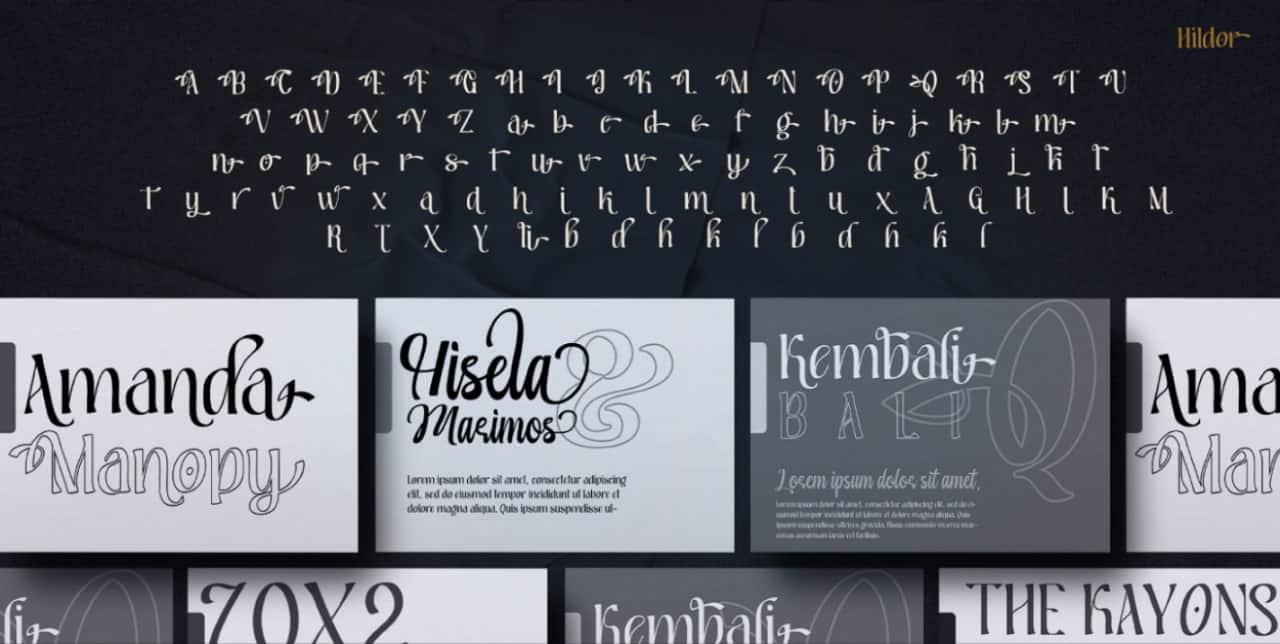 Download Hildor font (typeface)