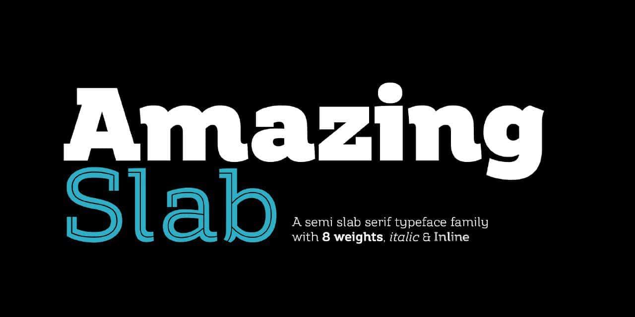 Download Amazing Slab font (typeface)