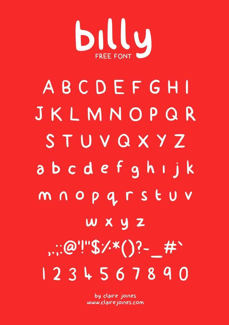 Download Billy font (typeface)