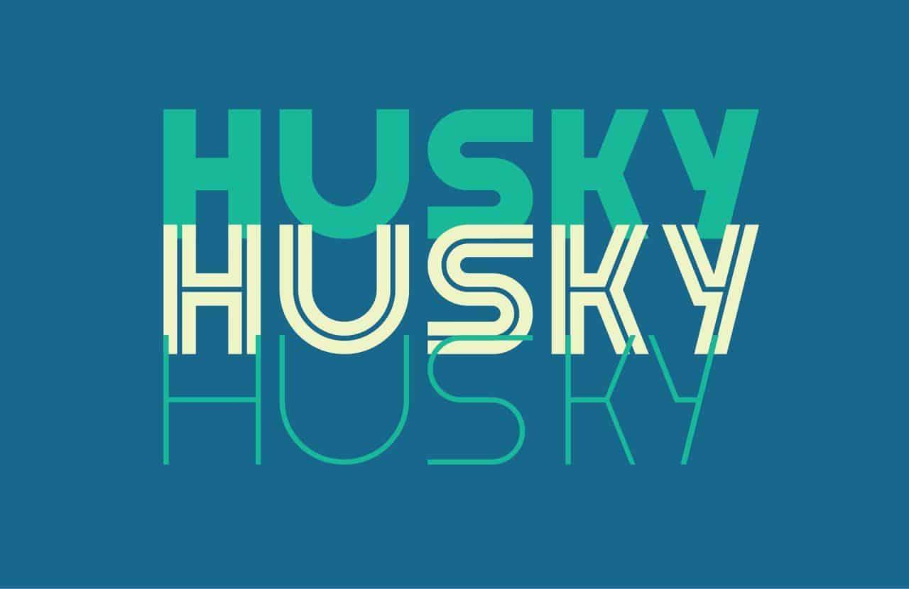 Download Husky font (typeface)