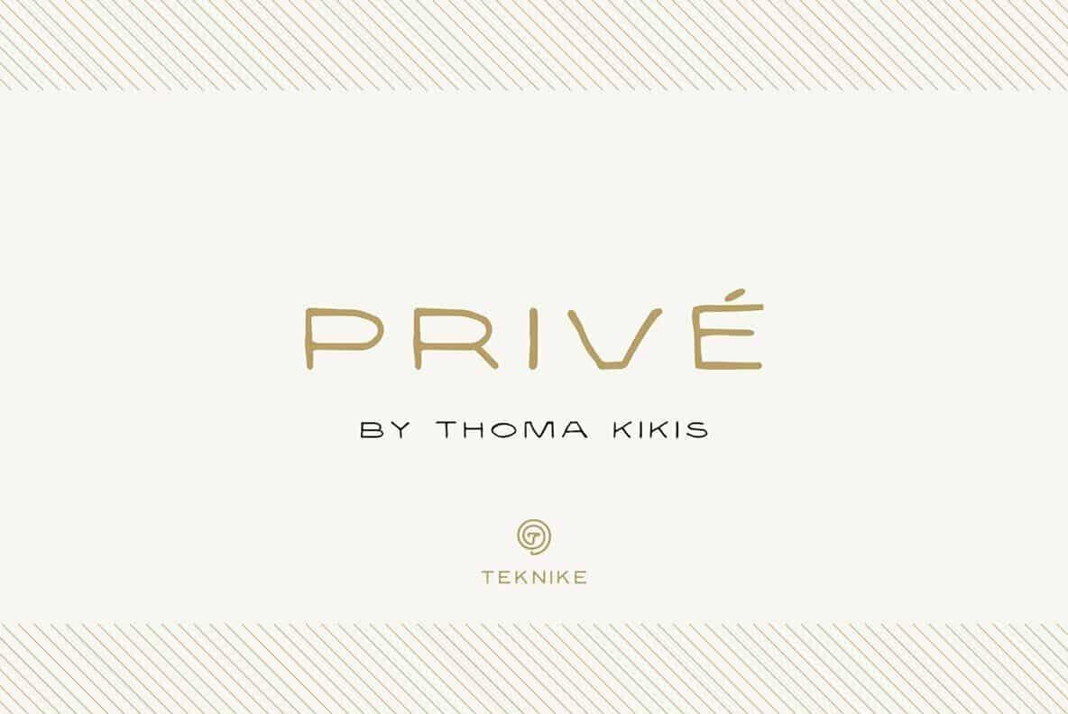 Download Prive font (typeface)