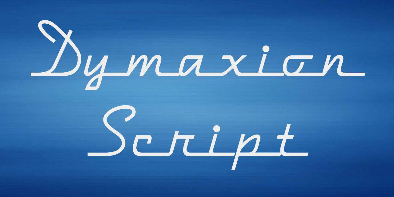 Download Dymaxion Script font (typeface)