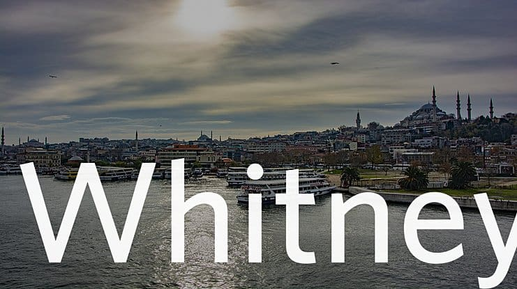 Download Whitney Font Family font (typeface)