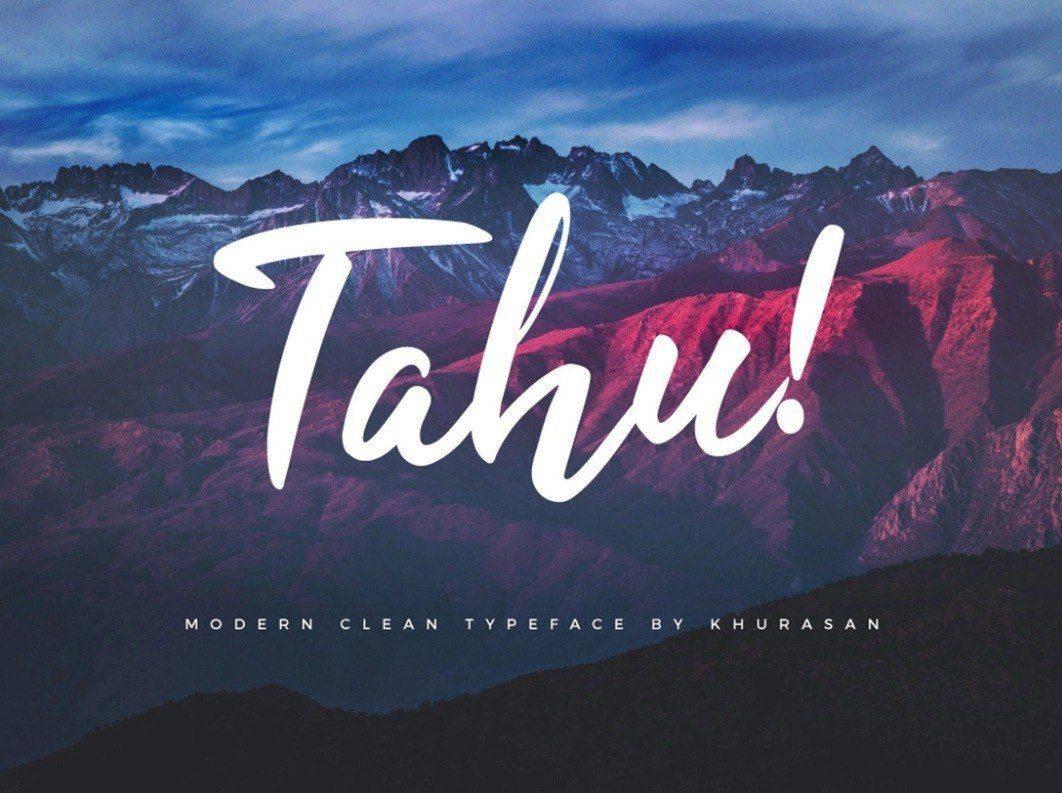 Download Tahu! font (typeface)