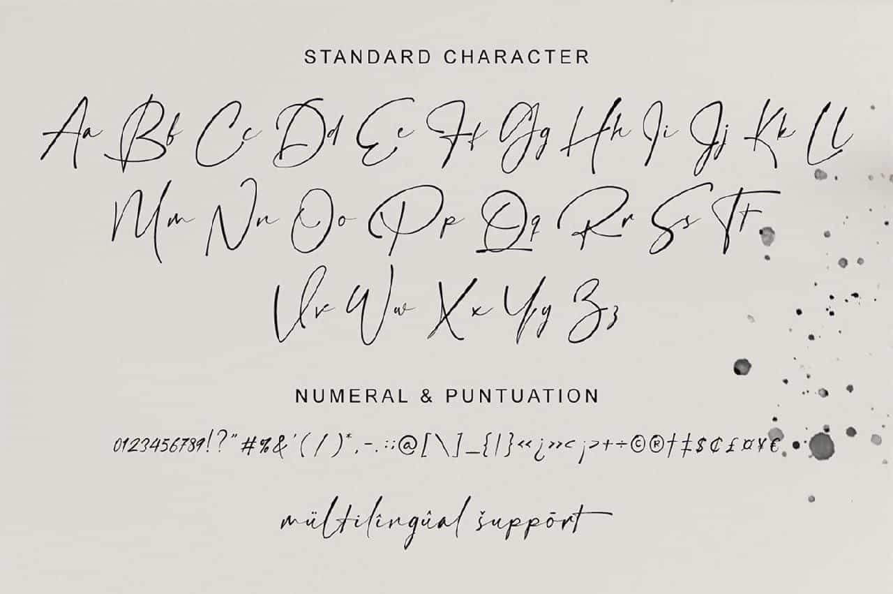 Download Hamiltone Signature font (typeface)