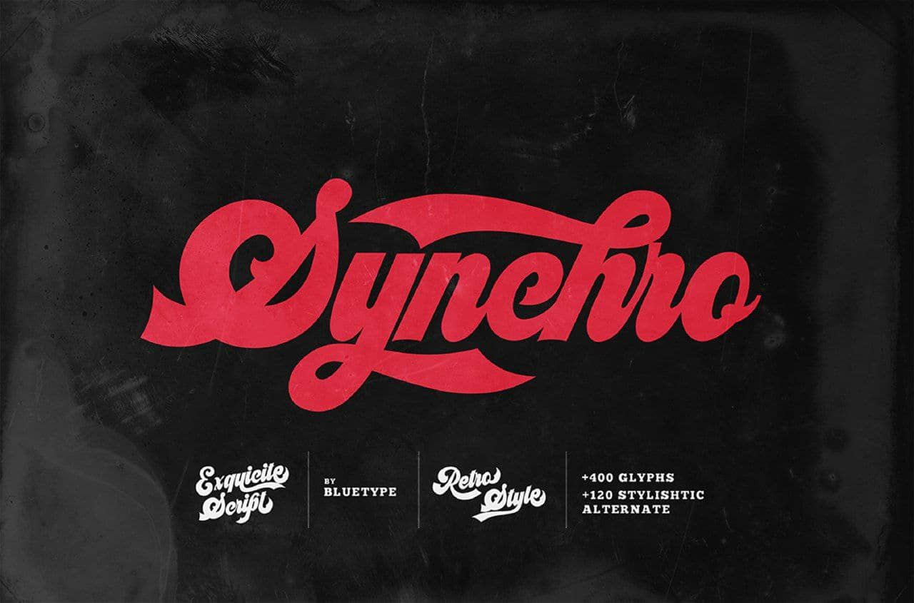 Download Synchro font (typeface)