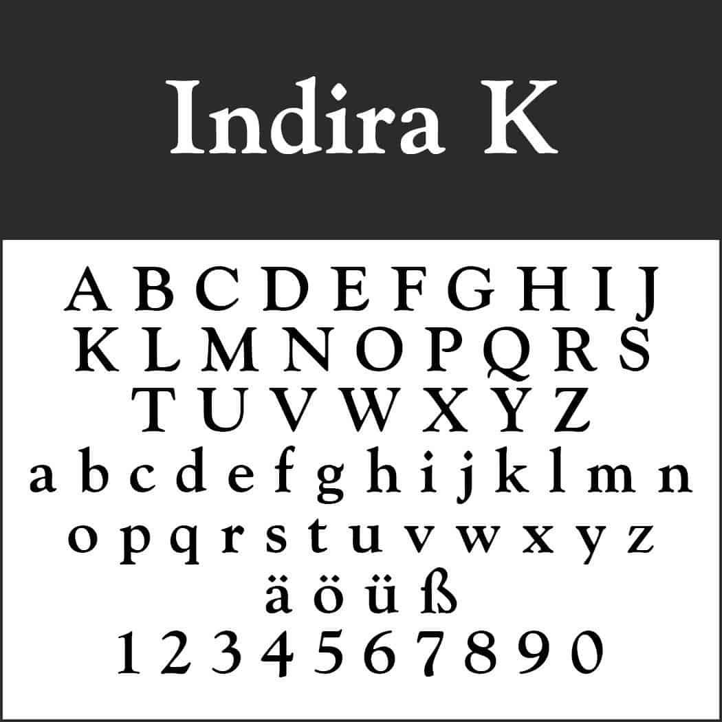 Download Indira K font (typeface)