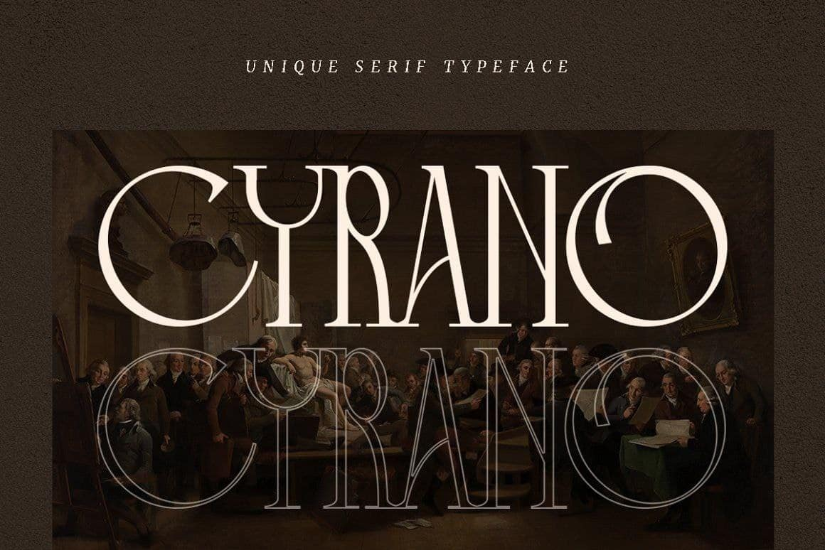 Download Cyrano font (typeface)