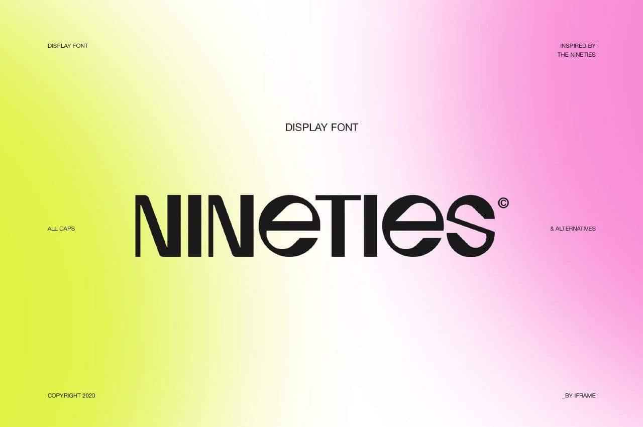 Download Nineties font (typeface)