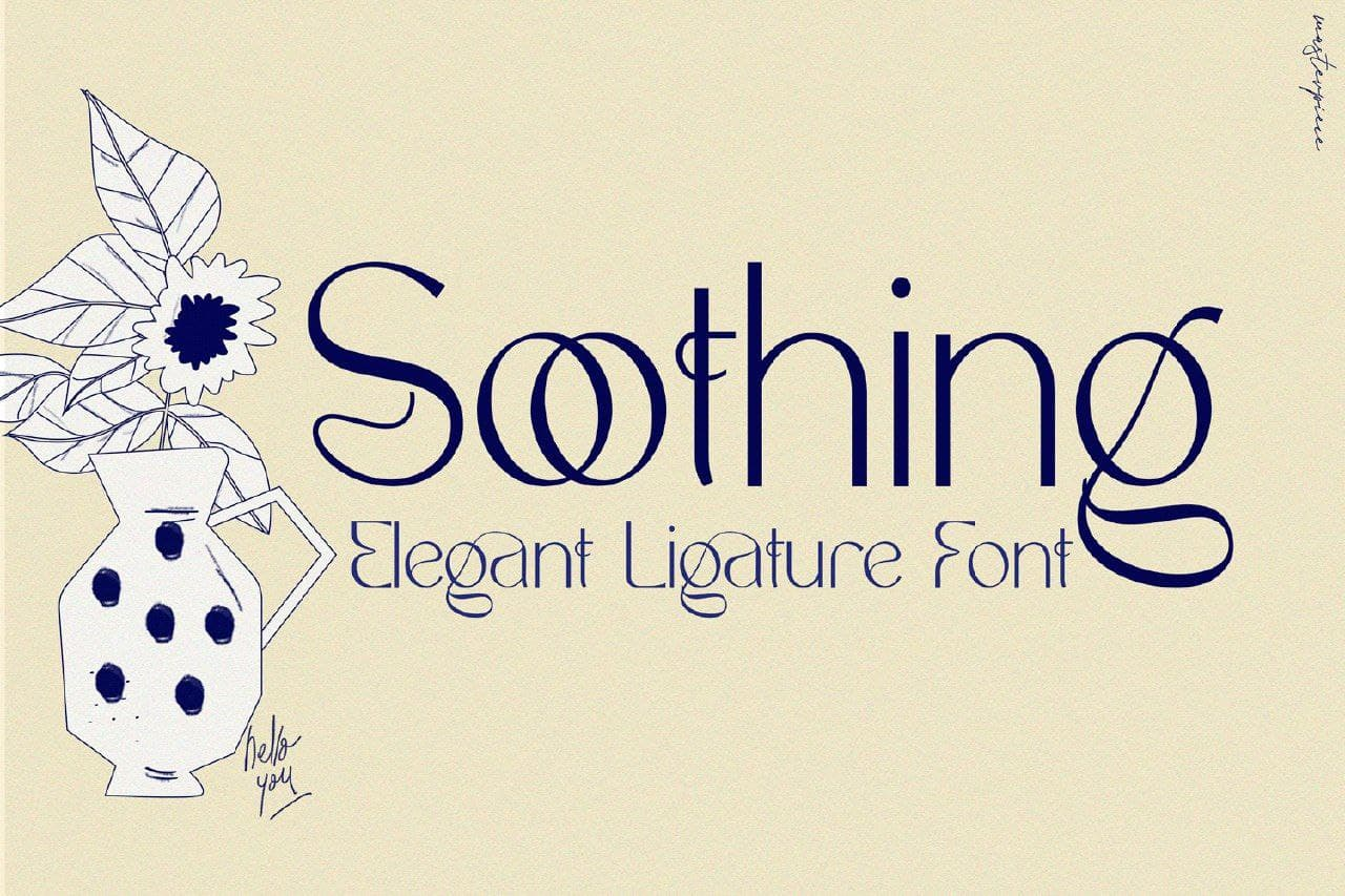 Download Soothing font (typeface)