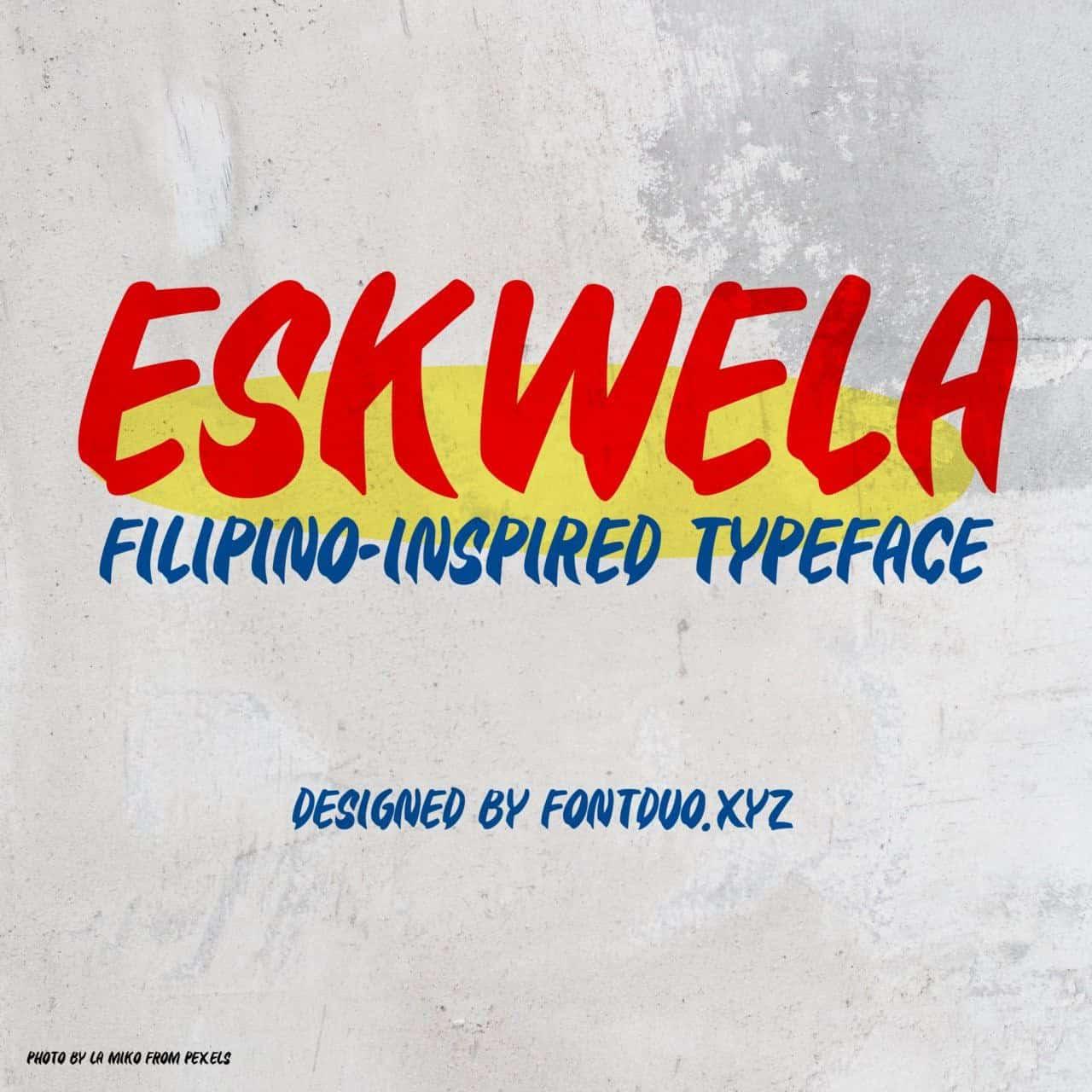 Download Eskwela font (typeface)