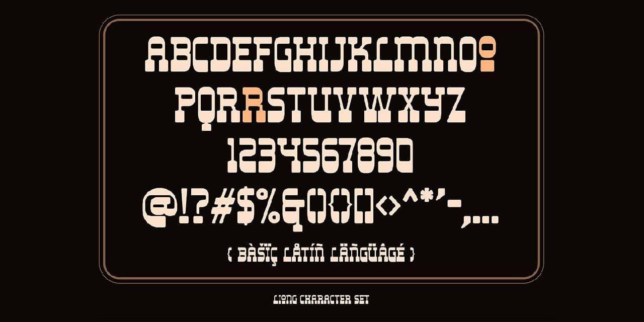 Download Liong font (typeface)
