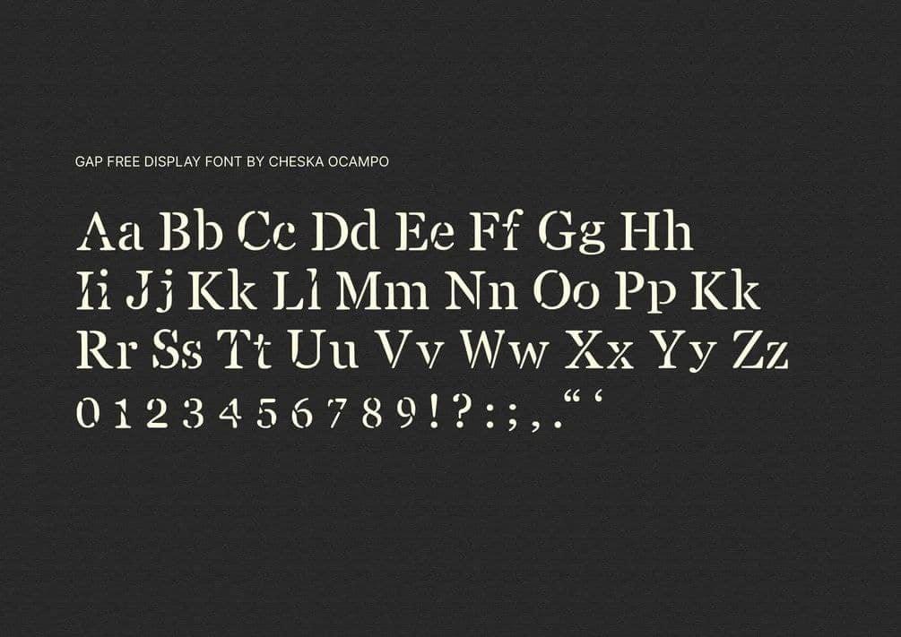 Download Gap font (typeface)