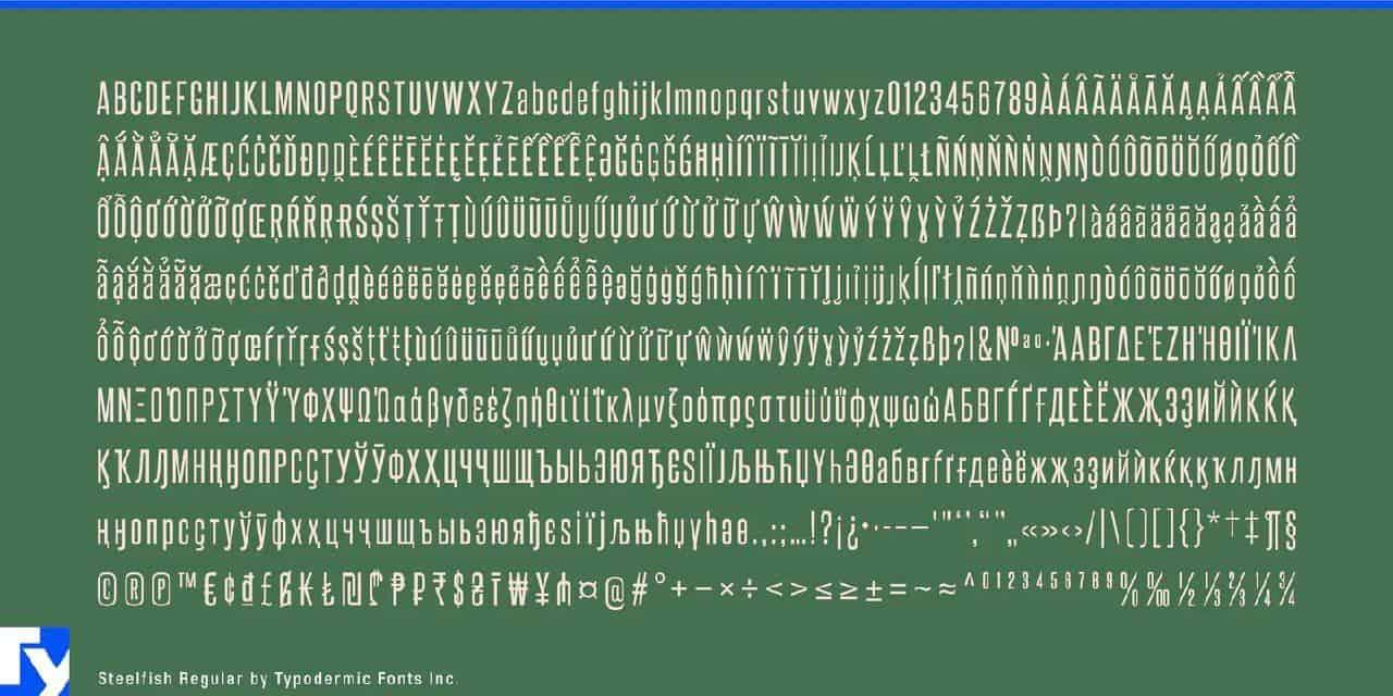 Download Steelfish font (typeface)