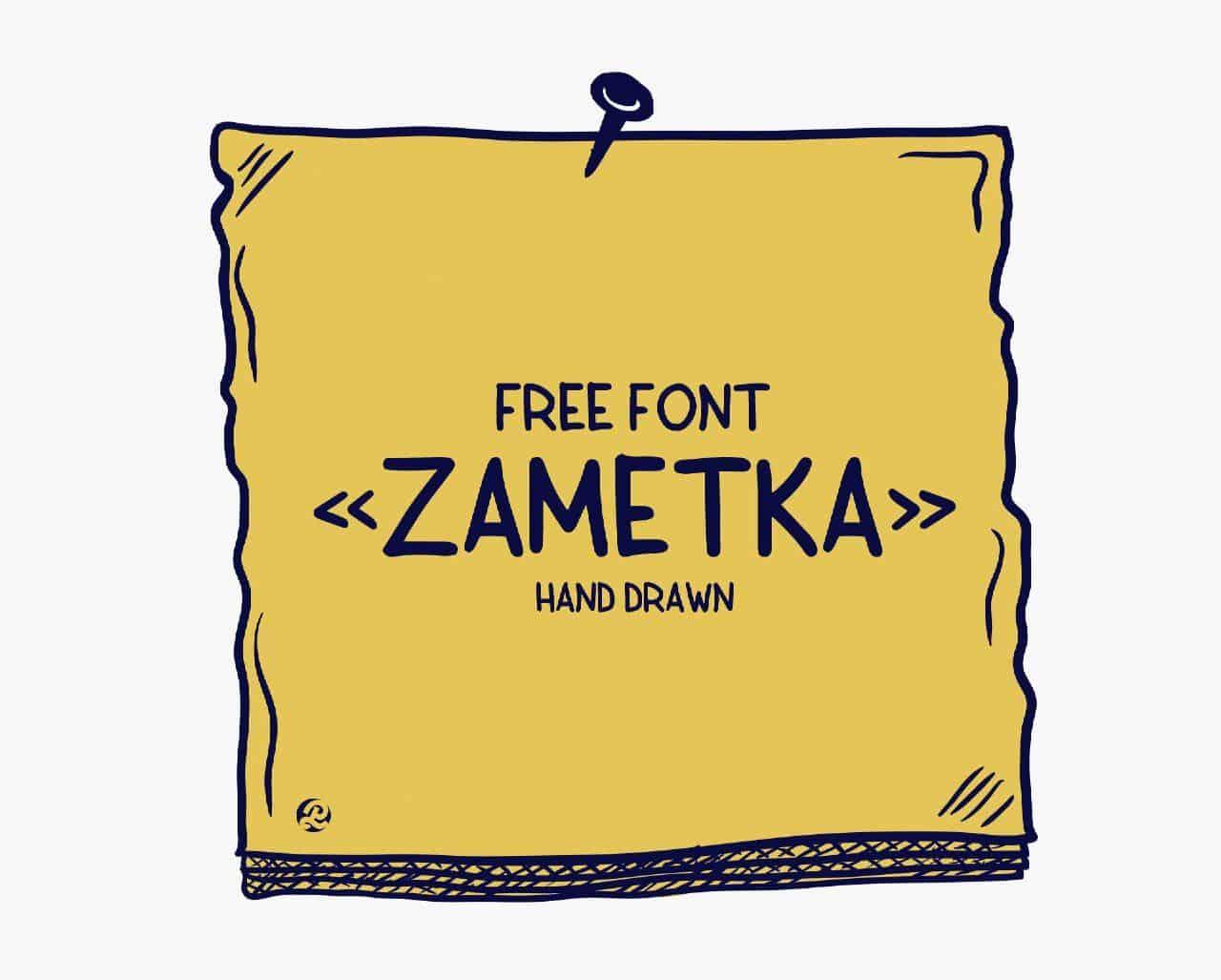 Download Zametka font (typeface)