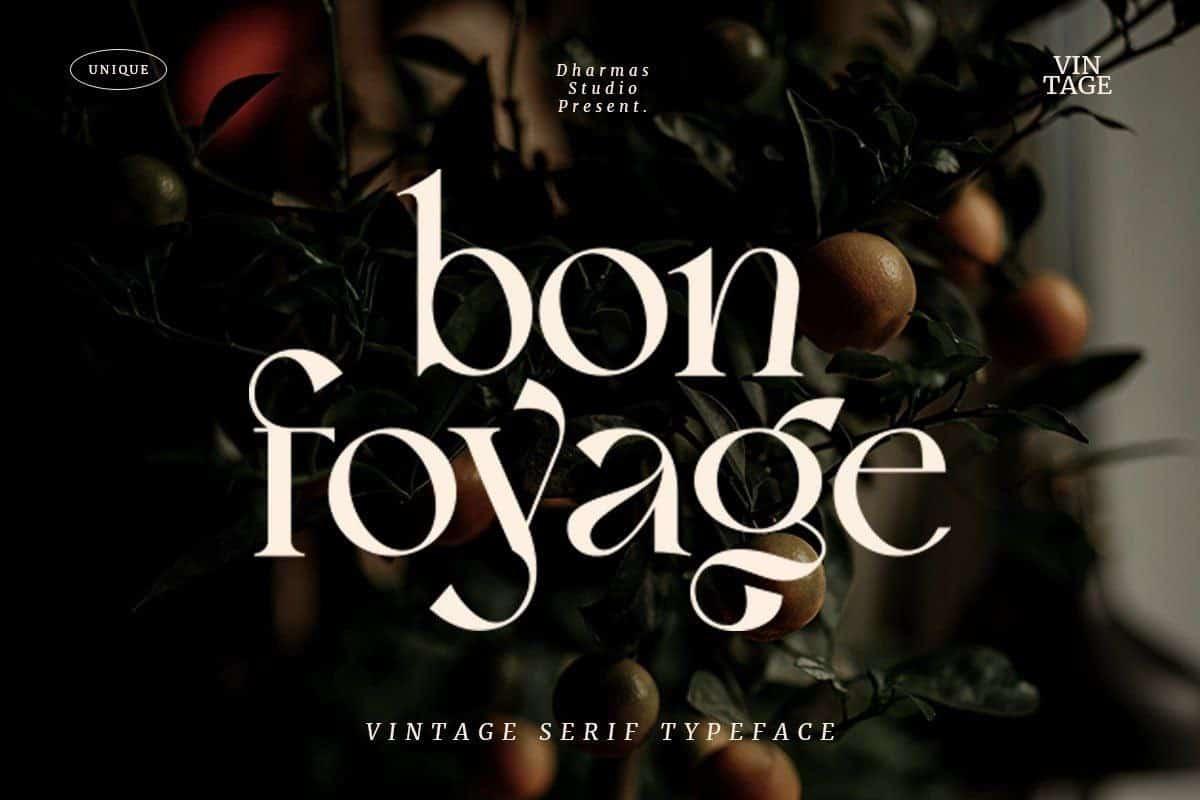 Download Bon Foyage font (typeface)